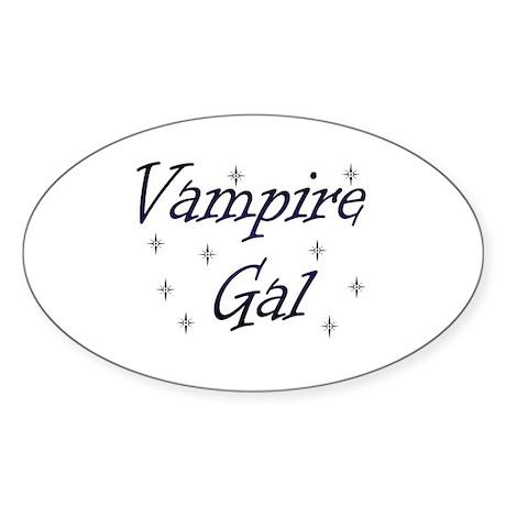 Vampire Gal Oval Sticker