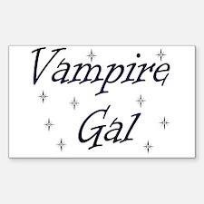 Vampire Gal Rectangle Decal