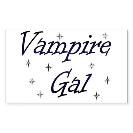 Vampire Gal Rectangle Sticker