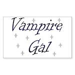 Vampire Gal Rectangle Sticker