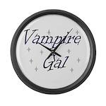 Vampire Gal Large Wall Clock