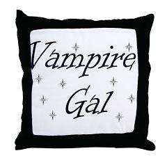 Vampire Gal Throw Pillow