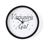 Vampire Gal Wall Clock