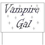Vampire Gal Yard Sign