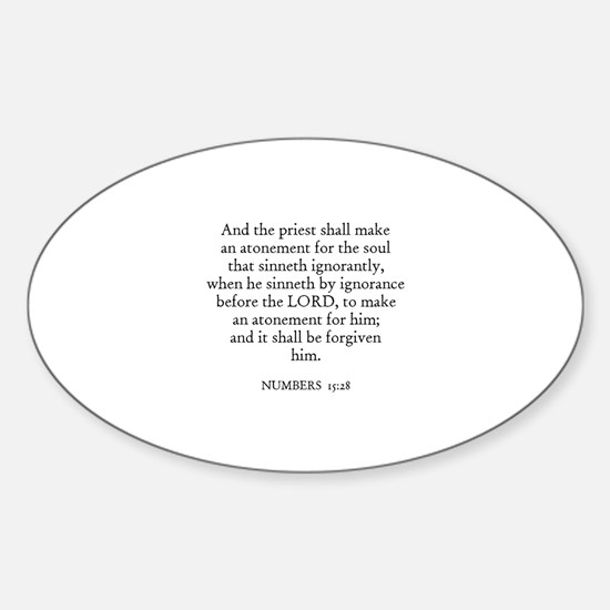 NUMBERS 15:28 Oval Decal