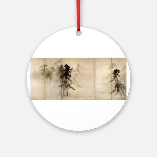 Pine Trees Ornament (Round)