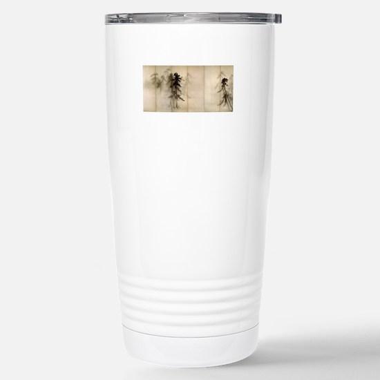 Pine Trees Stainless Steel Travel Mug