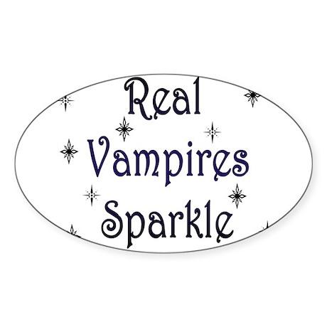 Sparkle Attitude Oval Sticker