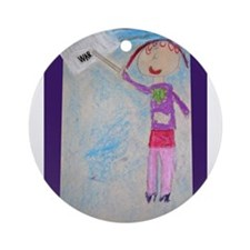 Angelica Diaz Ornament (Round)