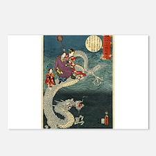 Kunisada II The Dragon Postcards (Package of 8)