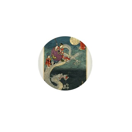 Kunisada II The Dragon Mini Button (10 pack)