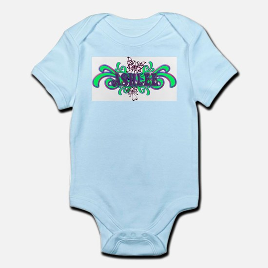 Ashlee's Butterfly Name Infant Creeper