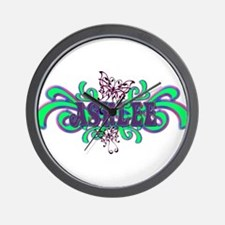 Ashlee's Butterfly Name Wall Clock