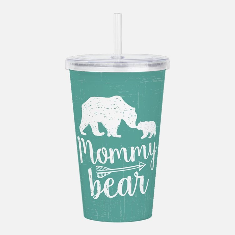 Mommy Bear Acrylic Double-wall Tumbler
