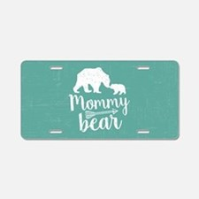 Mommy Bear Aluminum License Plate