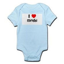 I LOVE MEKHI Infant Creeper