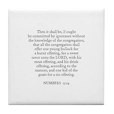NUMBERS  15:24 Tile Coaster