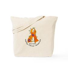 Flower Ribbon KIDNEY CANCER Tote Bag
