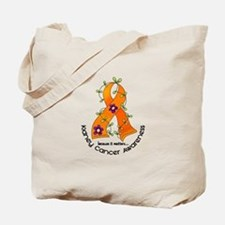 Flower Ribbon KIDNEY CANCER Tote Bag