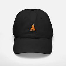 Flower Ribbon KIDNEY CANCER Baseball Hat