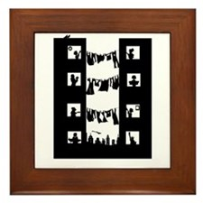 Cute City life Framed Tile