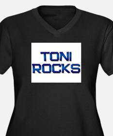 toni rocks Women's Plus Size V-Neck Dark T-Shirt