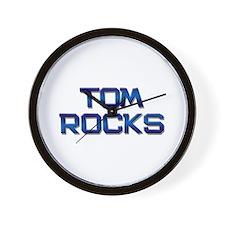 tom rocks Wall Clock