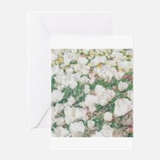 WHITE FLOWERS_206 Greeting Card