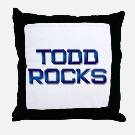 todd rocks Throw Pillow