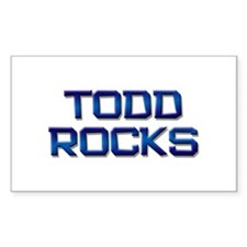 todd rocks Rectangle Bumper Stickers