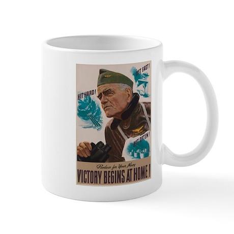 Victory Begins at Home! Mug