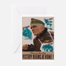 Victory Begins at Home! Greeting Card