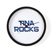 tina rocks Wall Clock