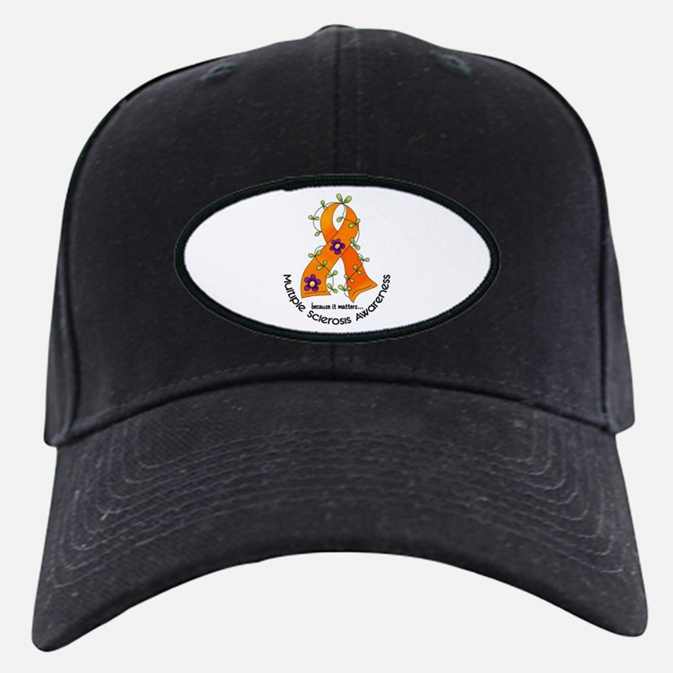 Flower Ribbon MS Baseball Hat