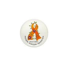 Flower Ribbon MS Mini Button (10 pack)