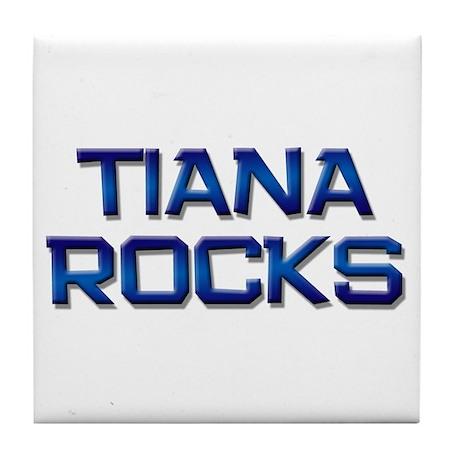 tiana rocks Tile Coaster