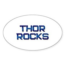thor rocks Oval Decal