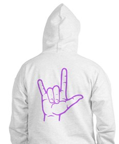 Purple I Love You Hoodie
