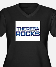 theresa rocks Women's Plus Size V-Neck Dark T-Shir