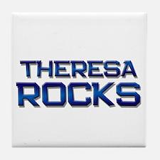 theresa rocks Tile Coaster