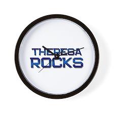 theresa rocks Wall Clock
