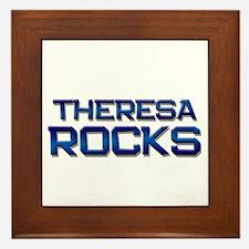 theresa rocks Framed Tile