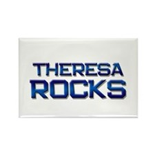 theresa rocks Rectangle Magnet