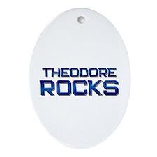 theodore rocks Oval Ornament