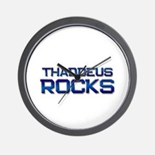 thaddeus rocks Wall Clock