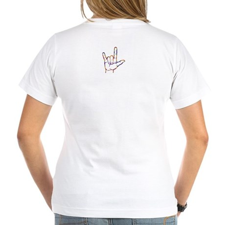 Tiedye I Love You Women's V-Neck T-Shirt