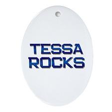 tessa rocks Oval Ornament