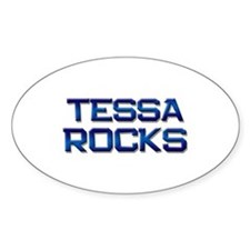 tessa rocks Oval Decal