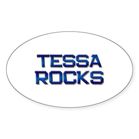 tessa rocks Oval Sticker