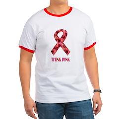 Think Pink Flower Design T